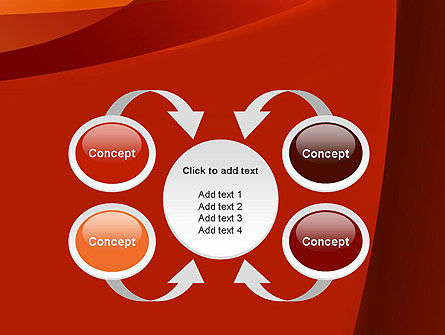 Curved Red Layers PowerPoint Template Slide 6