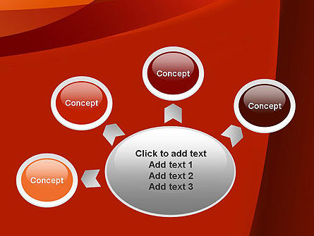 Curved Red Layers PowerPoint Template Slide 7