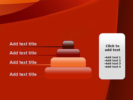 Curved Red Layers PowerPoint Template Slide 8