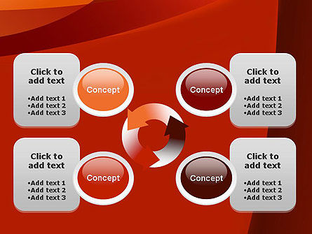 Curved Red Layers PowerPoint Template Slide 9