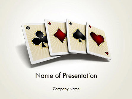 Four Aces PowerPoint Template, 12000, Art & Entertainment — PoweredTemplate.com