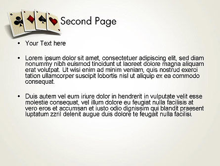 Four Aces PowerPoint Template, Slide 2, 12000, Art & Entertainment — PoweredTemplate.com