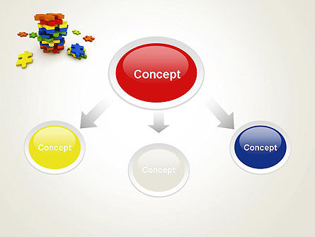 Pile of Puzzle Pieces PowerPoint Template Slide 4