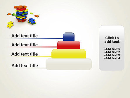 Pile of Puzzle Pieces PowerPoint Template Slide 8