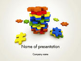 Business Concepts: Pile of Puzzle Pieces PowerPoint Template #12001