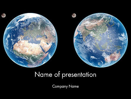 Global: Earth and Moon PowerPoint Template #12002