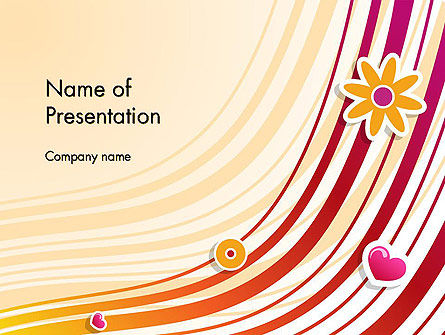 Fresh Fantasy with Lines PowerPoint Template