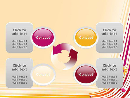 Fresh Fantasy with Lines PowerPoint Template Slide 9
