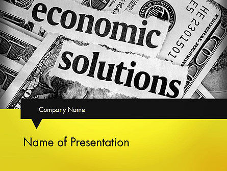 Economic Solutions PowerPoint Template