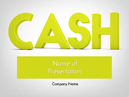 Financial/Accounting: Word CASH PowerPoint Template #12007