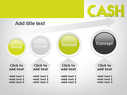 Word CASH PowerPoint Template Slide 13
