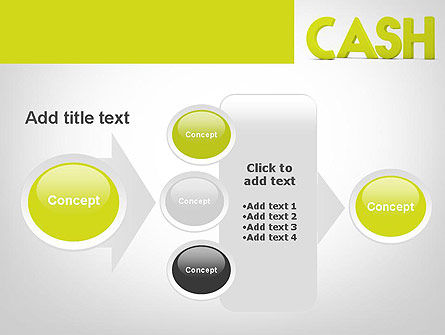 Word CASH PowerPoint Template Slide 17