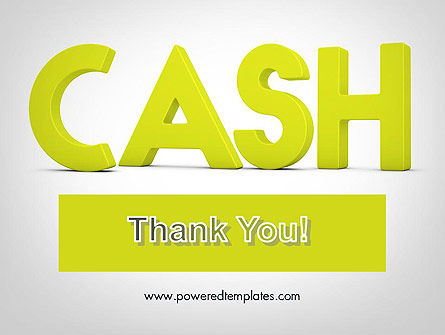 Word CASH PowerPoint Template Slide 20