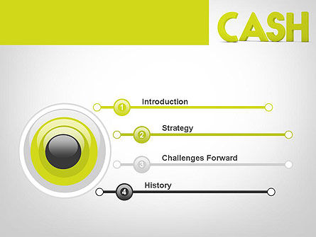 Word CASH PowerPoint Template Slide 3