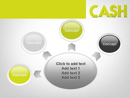 Word CASH PowerPoint Template Slide 7