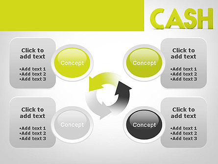 Word CASH PowerPoint Template Slide 9