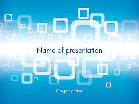Blue Technology Abstract PowerPoint Template, 12009, Abstract/Textures — PoweredTemplate.com