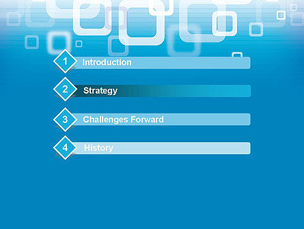 Blue Technology Abstract PowerPoint Template Slide 3
