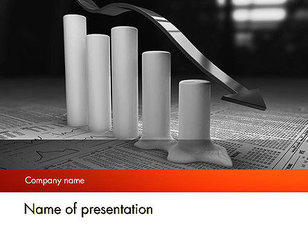 Financial/Accounting: Melting Profits PowerPoint Template #12010