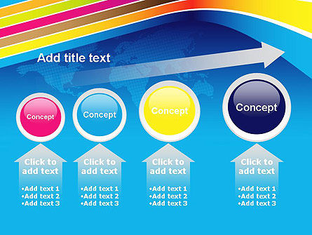 Colorful World PowerPoint Template Slide 13