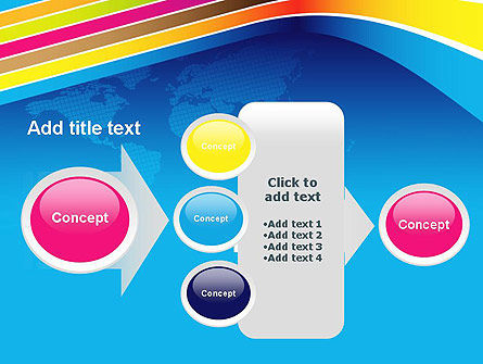 Colorful World PowerPoint Template Slide 17