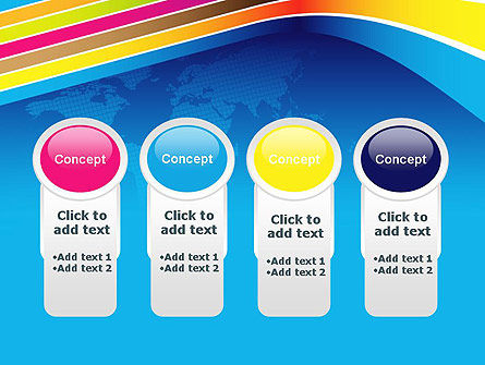 Colorful World PowerPoint Template Slide 5