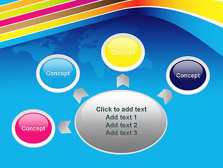 Colorful World PowerPoint Template Slide 7
