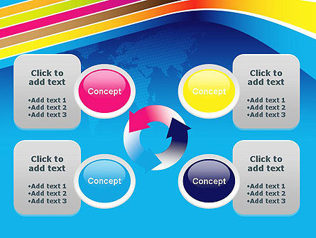 Colorful World PowerPoint Template Slide 9