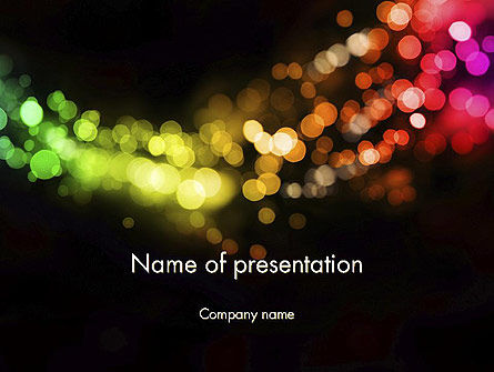 Abstract/Textures: Holiday Lights PowerPoint Template #12014