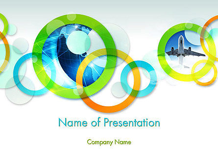 Cool Presentation with Rings PowerPoint Template