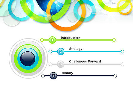 Cool Presentation with Rings PowerPoint Template Slide 3