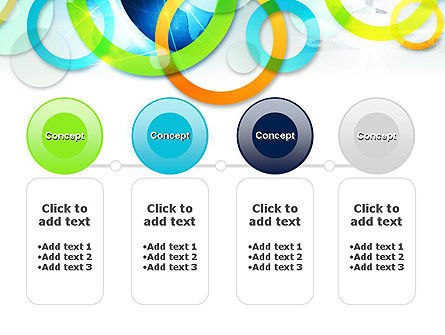 Cool Presentation with Rings PowerPoint Template Slide 5