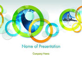 Business: Cool Presentation with Rings PowerPoint Template #12015