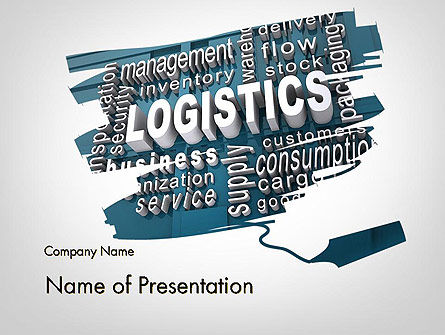 Logistics Word Cloud PowerPoint Template, 12016, Careers/Industry — PoweredTemplate.com
