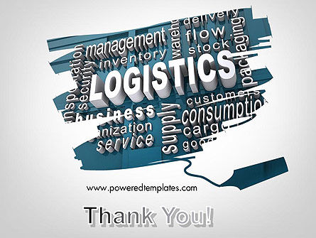 Logistics Word Cloud PowerPoint Template Slide 20