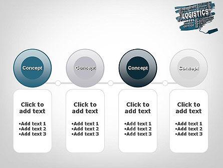 Logistics Word Cloud PowerPoint Template Slide 5