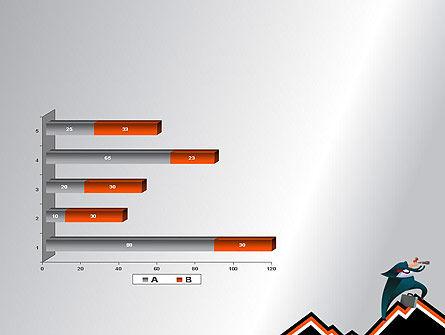 Businessman Climbing Graph PowerPoint Template Slide 11