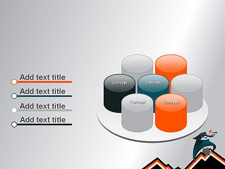 Businessman Climbing Graph PowerPoint Template Slide 12