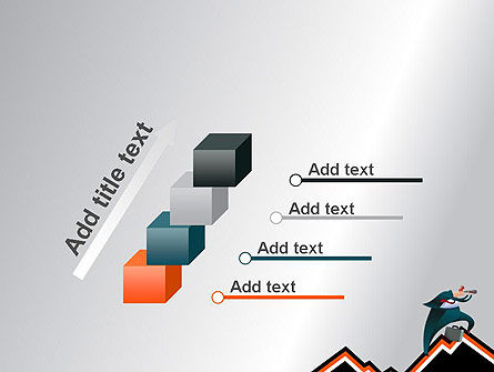 Businessman Climbing Graph PowerPoint Template Slide 14