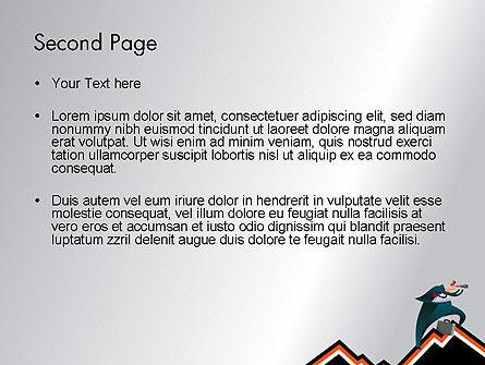 Businessman Climbing Graph PowerPoint Template, Slide 2, 12017, Education & Training — PoweredTemplate.com