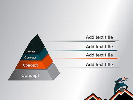 Businessman Climbing Graph PowerPoint Template, Slide 4, 12017, Education & Training — PoweredTemplate.com