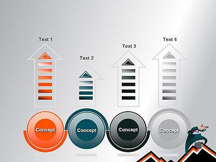 Businessman Climbing Graph PowerPoint Template Slide 7