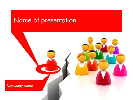 Earth Crack PowerPoint Template