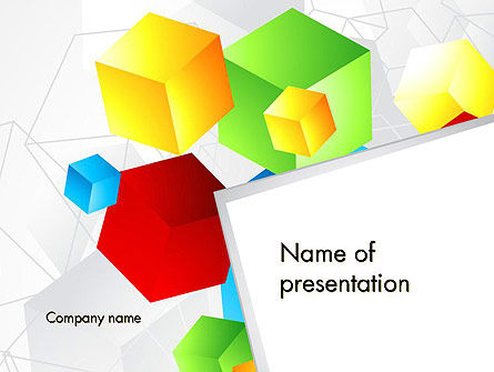 Colorful Cubes PowerPoint Template, 12021, Abstract/Textures — PoweredTemplate.com