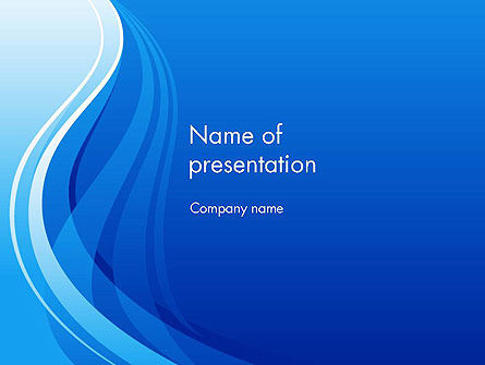 Blue Wave Fantasy PowerPoint Template, 12025, Abstract/Textures — PoweredTemplate.com