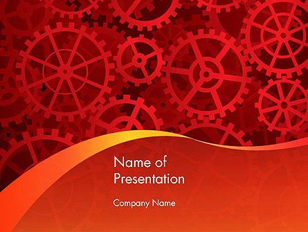 Gears and Cogs PowerPoint Template, 12026, Business Concepts — PoweredTemplate.com