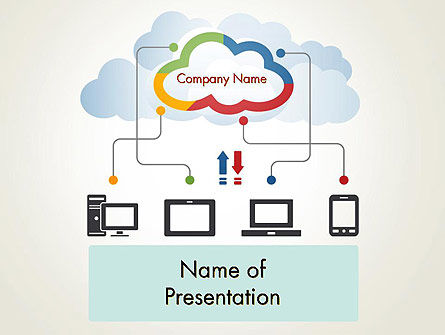 Technology and Science: Cloud File Exchange PowerPoint Template #12027