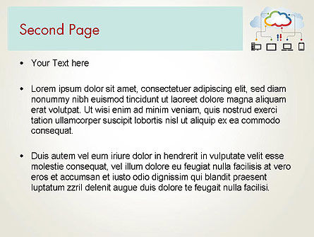 Cloud File Exchange PowerPoint Template, Slide 2, 12027, Technology and Science — PoweredTemplate.com