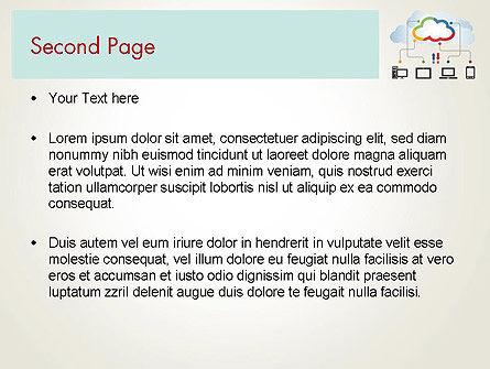 Cloud File Exchange PowerPoint Template Slide 2