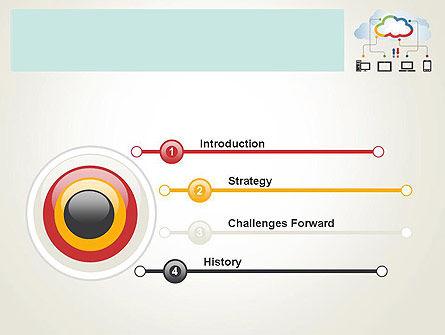 Cloud File Exchange PowerPoint Template Slide 3